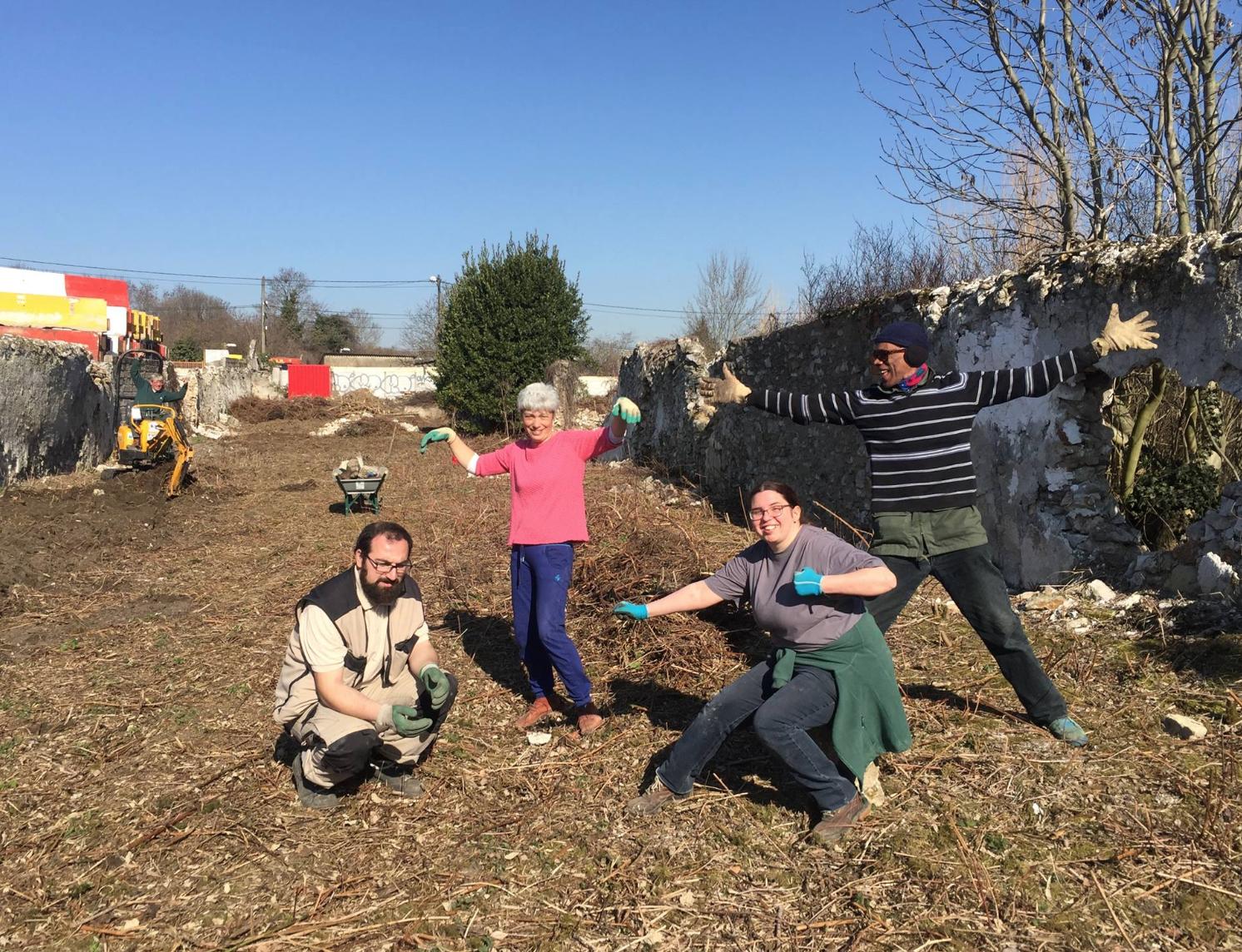 Visite et dernier nettoyage avant plantation du verger